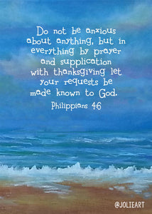 Philippians 4:6 Do Not Be Anxious Bible Verse Print