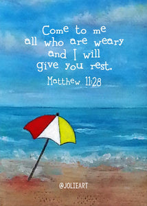 Matthew 11:28 Come to Me All Who Are Weary Bible Verse Print