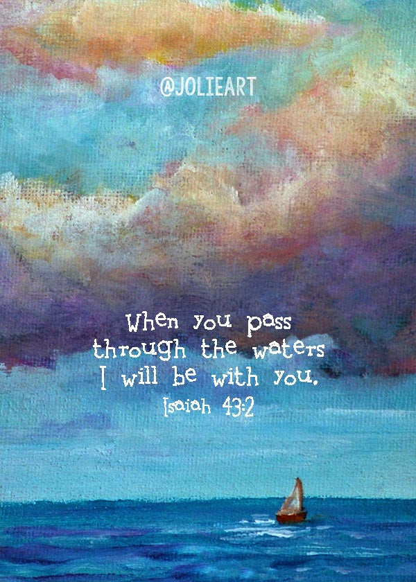Isaiah 43:2 When You Pass Through the Waters Bible Verse Print