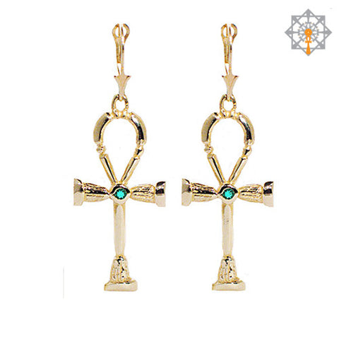Classical Ankh Earrings