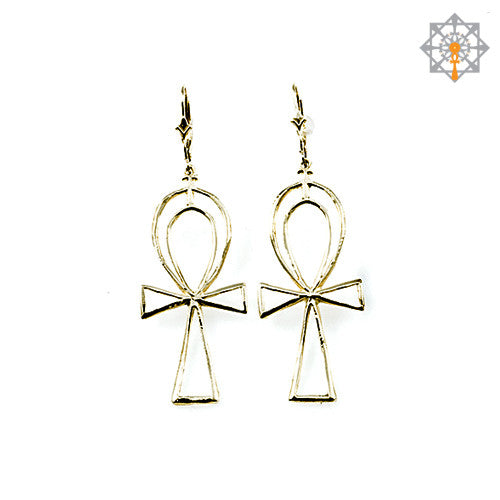 Ankh Outline Earrings