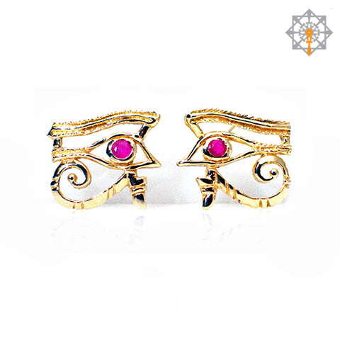 Eye of Heru (Horus) Post Earrings