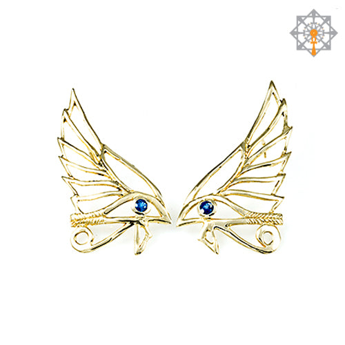 Winged Eye of Horus Earrings