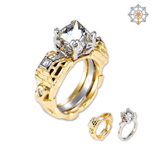 "Copy of ""2 Become One"" Seeds of Life Engagement Ring"