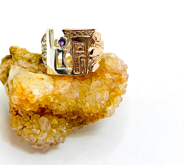 Sacred Woman Ascension Ring 14k & Silver