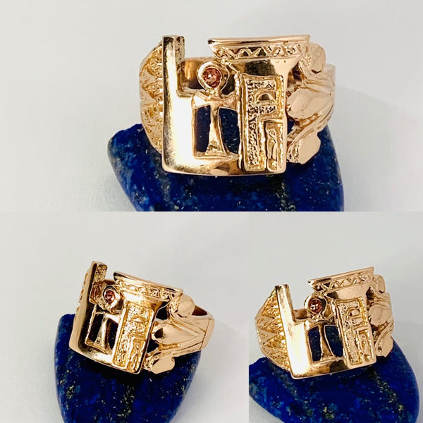Sacred Woman Ascension Ring 14k