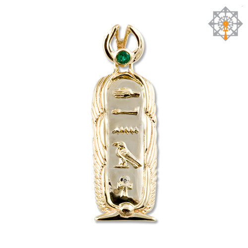 Shen Cartouche Pendant With Winged Borders By Studio Of Ptah