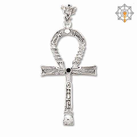 Master Key Ankh Pendant (2 sided) Sterling Silver