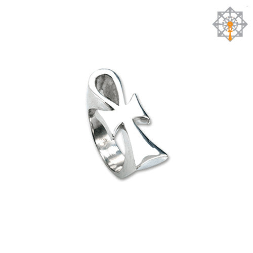 Smooth Horizontal Ankh Ring