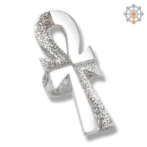 The Rough & Smooth of Life Ankh XL Ring