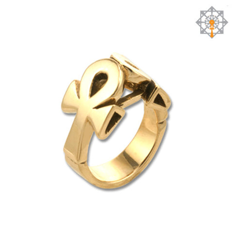 Lean on Life Ankh Ring (W/out Stones)