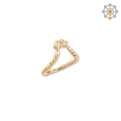 Double Ankh Mini Ring