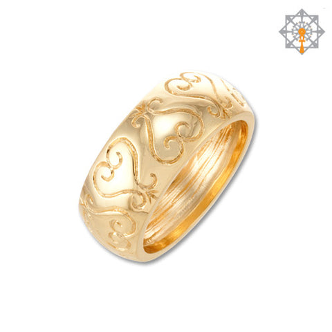 etched sankofa wedding band - African Wedding Rings