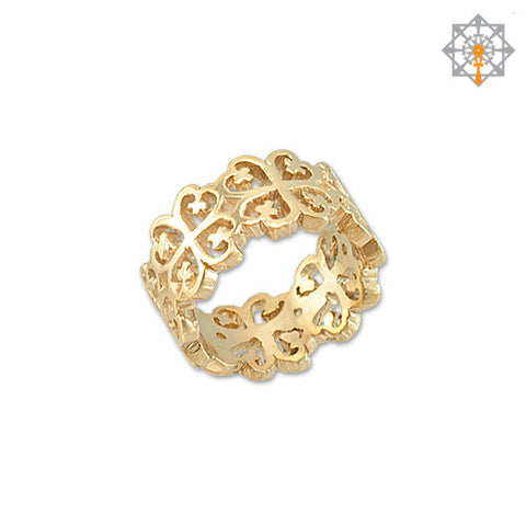 Nyame Dua Adinkra Wedding Band