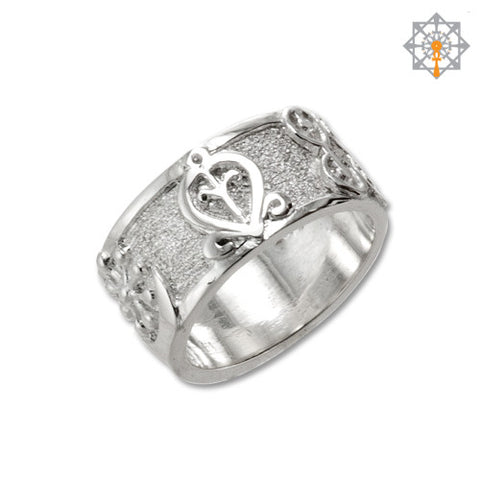 Adinkra Symbol Wedding Band