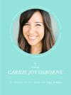 My Word of the Year – Carrie Joy Osbourne