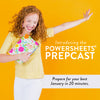 January PowerSheets PrepCast