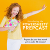 March PowerSheets PrepCast