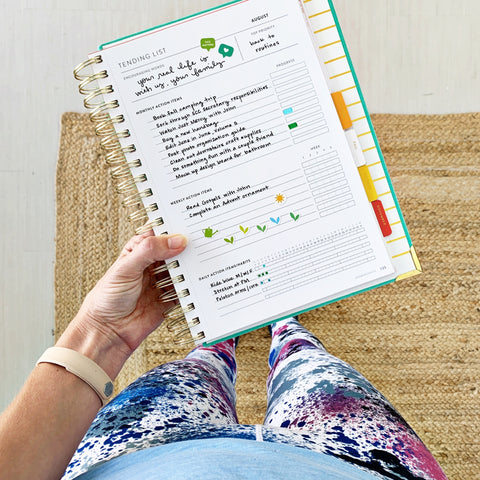 How to make a Tending List in a Cultivate What Matters PowerSheets Intentional Goal Planner.