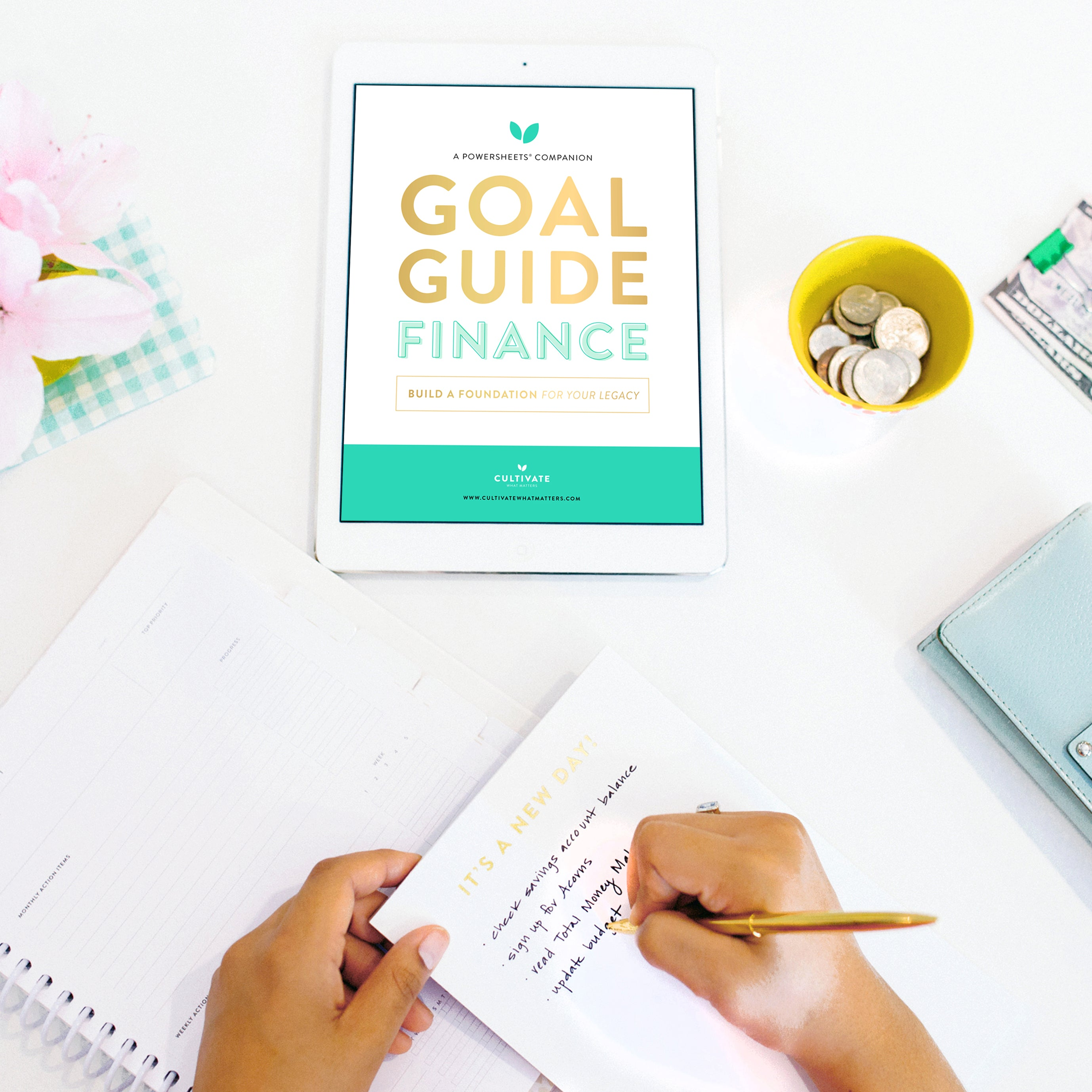 Cultivate Finance Goal Guide | PowerSheets Intentional Goal Planner