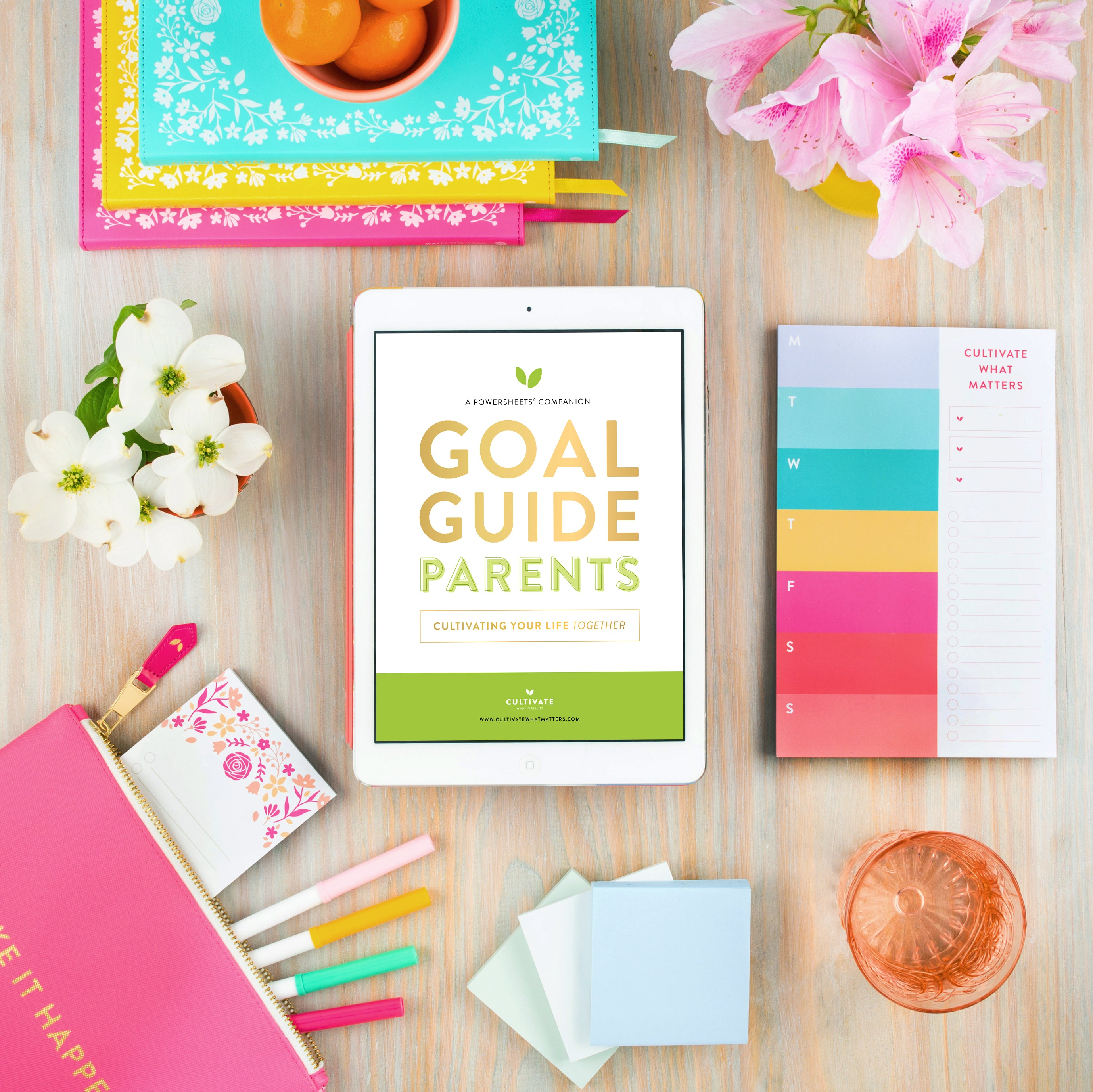 Cultivate Parents Goal Guide | PowerSheets Intentional Goal Planner
