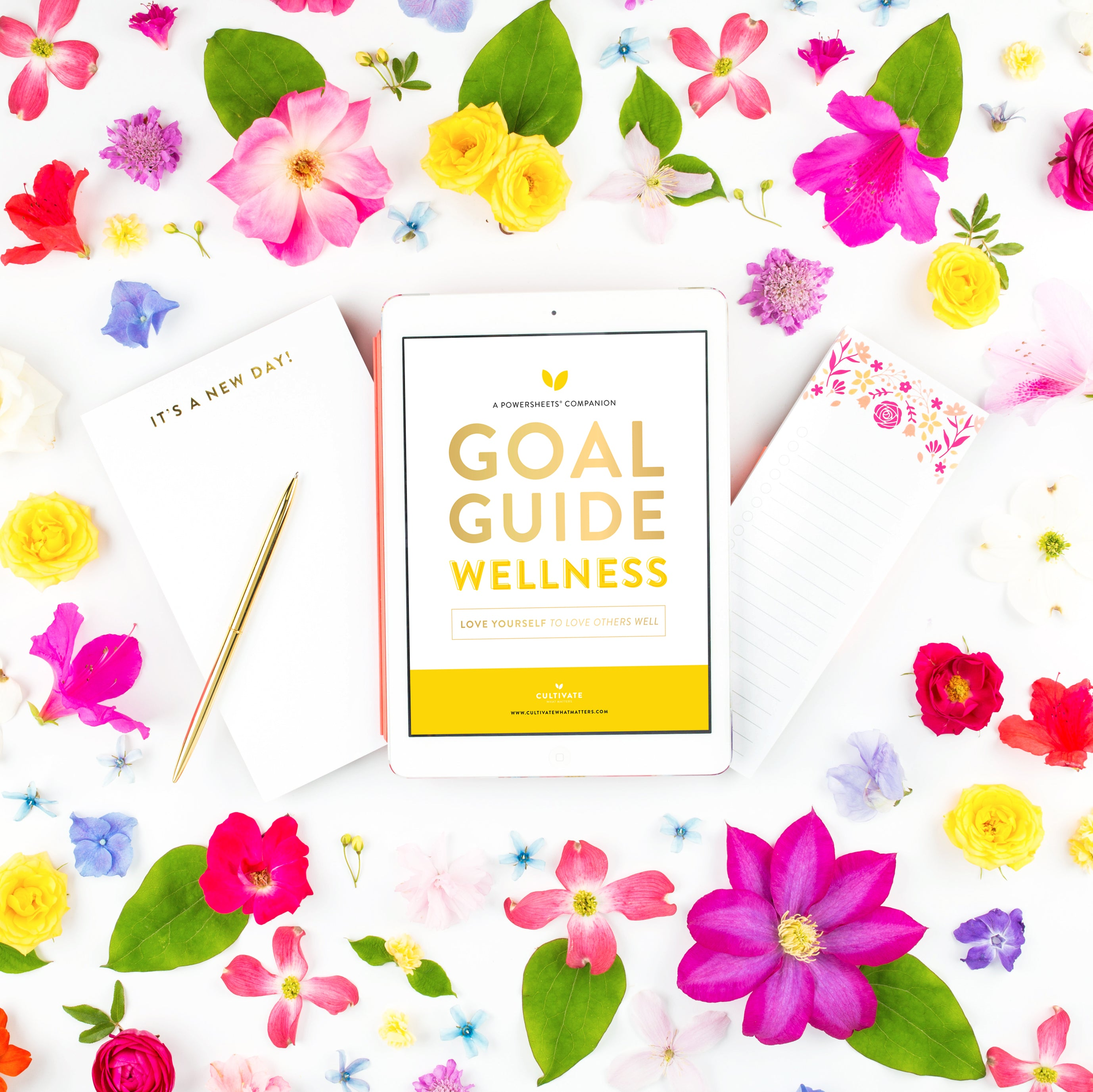 Cultivate Wellness Goal Guide | PowerSheets Intentional Goal Planner
