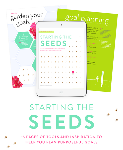 Lara Casey PowerSheets Goal Setting Guide for April #FreshStartSpring
