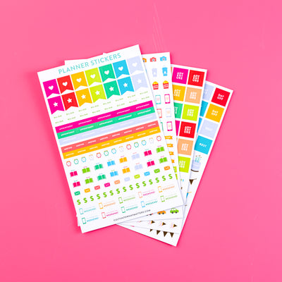 Planner Sticker Pack - Cultivate What Matters - Goal Setting