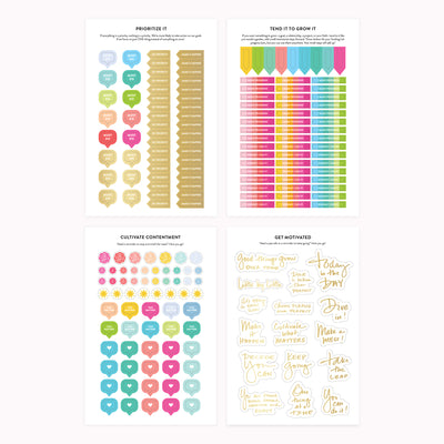 Goal Setting Sticker Book - Cultivate What Matters - Smart Goals