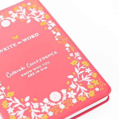 Confidence, Cultivate What Matters, Write the Word, Bible Journal, Faith, Scripture