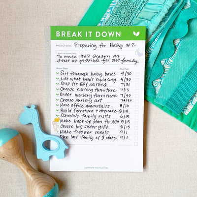 Break It Down Notepad