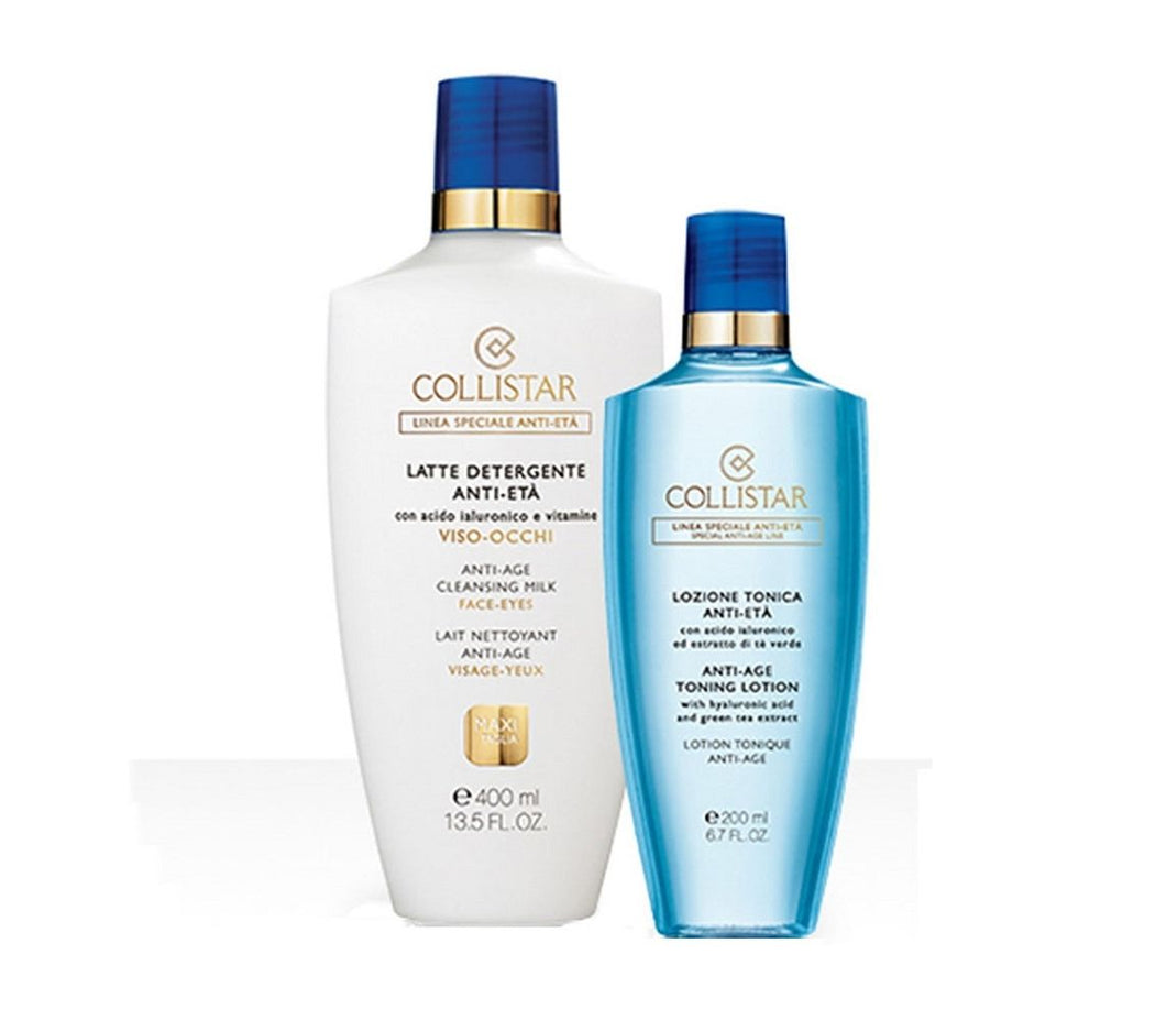 COLLISTAR ANTI ETA CLEANSING PACK : CLEANSER 400ml + TONER 200ml