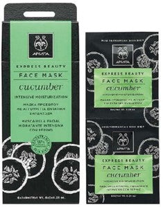 APIVITA FACE MASK FOR INTENSIVE MOISTURIZATION WITH CUCUMBER 2x8ml
