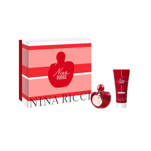 NINA RICCI 'NINA ROUGE' EAU de TOILETTE 50ml + BODY LOTION 75ml SET