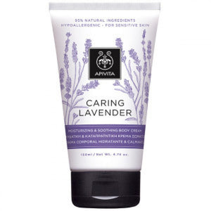 APIVITA CARING LAVENDER MOISTURIZING & SOOTHING BODY CREAM 150ml