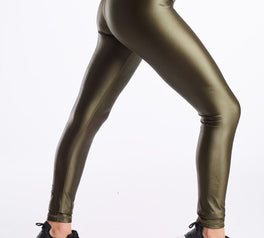 Load image into Gallery viewer, High Shine Signature Tights- Moss Green