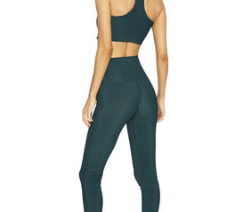 Load image into Gallery viewer, Rib Legging- Emerald Green