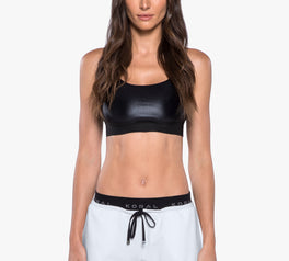 Load image into Gallery viewer, Sweeper Sports Bra Black