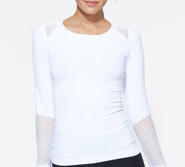 Load image into Gallery viewer, Seamless Long Sleeve White