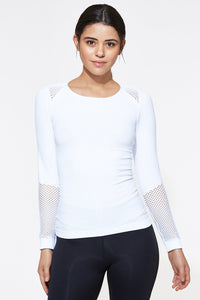 Seamless Long Sleeve White