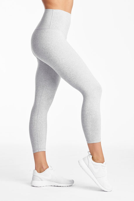 Jersey Moss Crop Legging- Heather Grey