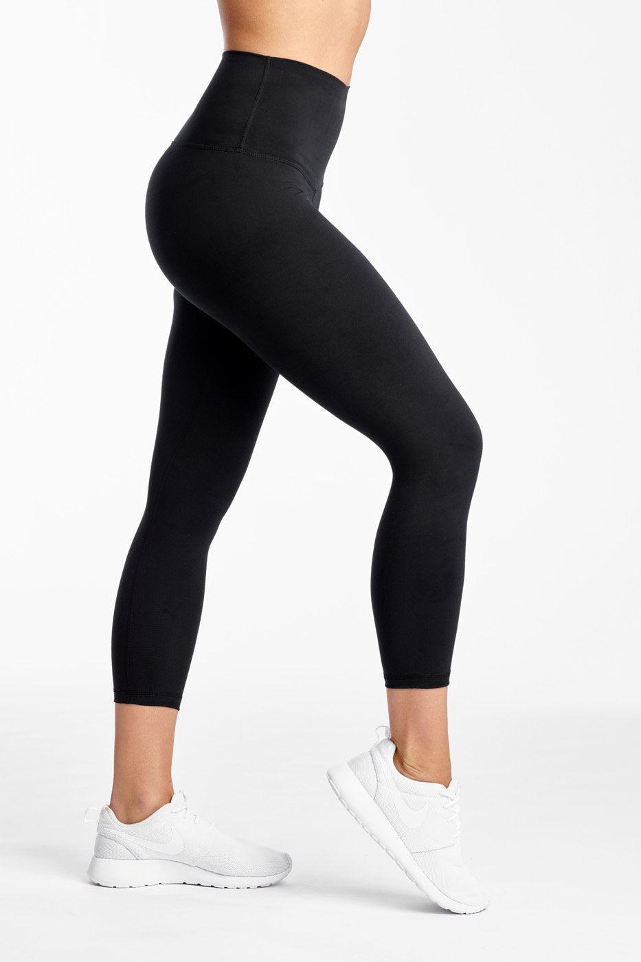 Crop Legging in Jersey Moss