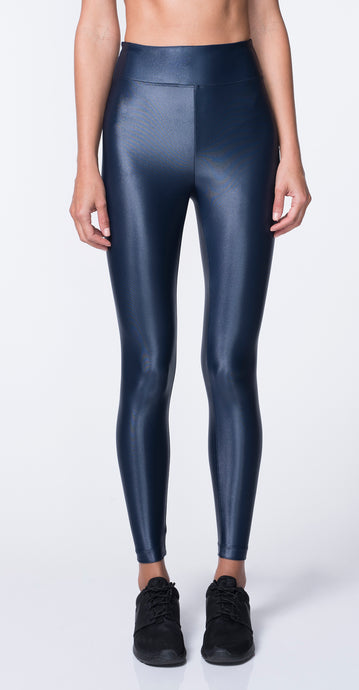 Lustrous High Rise Legging Navy