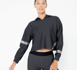 Load image into Gallery viewer, Meta Crop Hoddie Long Sleeve