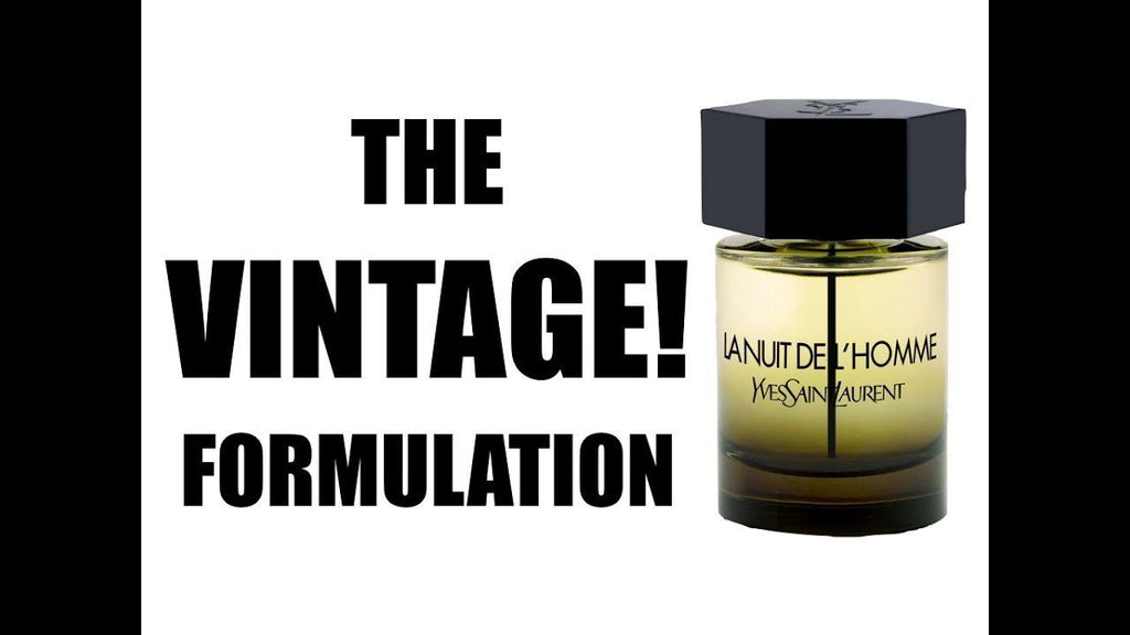 La Nuit DE L`Homme by Yves Saint Laurent for Men Official Vial/Sample [2009 VINTAGE BATCH]