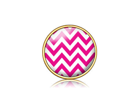 Chevron Pink / 18k Gold