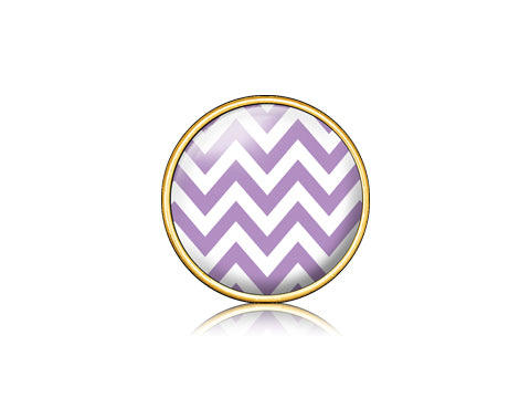 Chevron Purple / 18k Gold