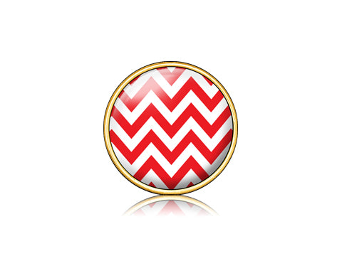 Chevron Red / 18k Gold