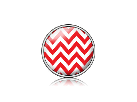 Chevron Red  / Silver