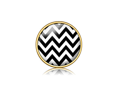 Chevron Black / 18k Gold